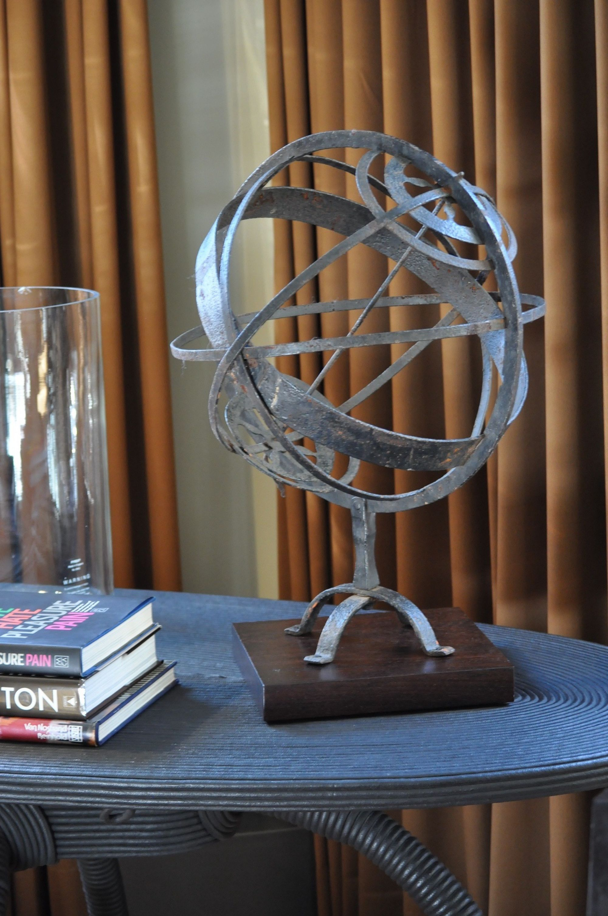 This iron armillary sphere is a sculpture in its own right.