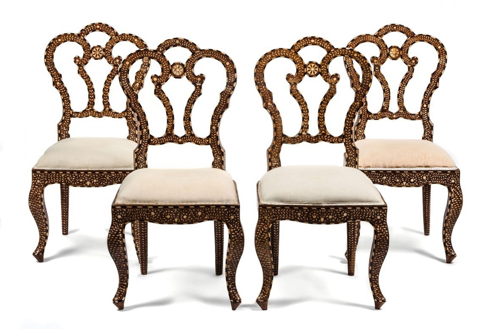 384 115 Four Eastern Bone Inlaid Chairs RGB sm
