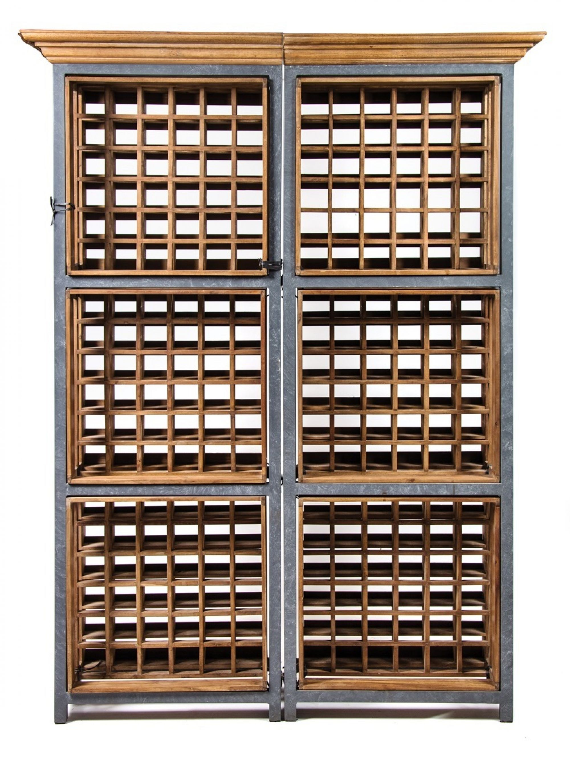 384 146 Zinc and Mahogany Wine Storage Racks RGB sm