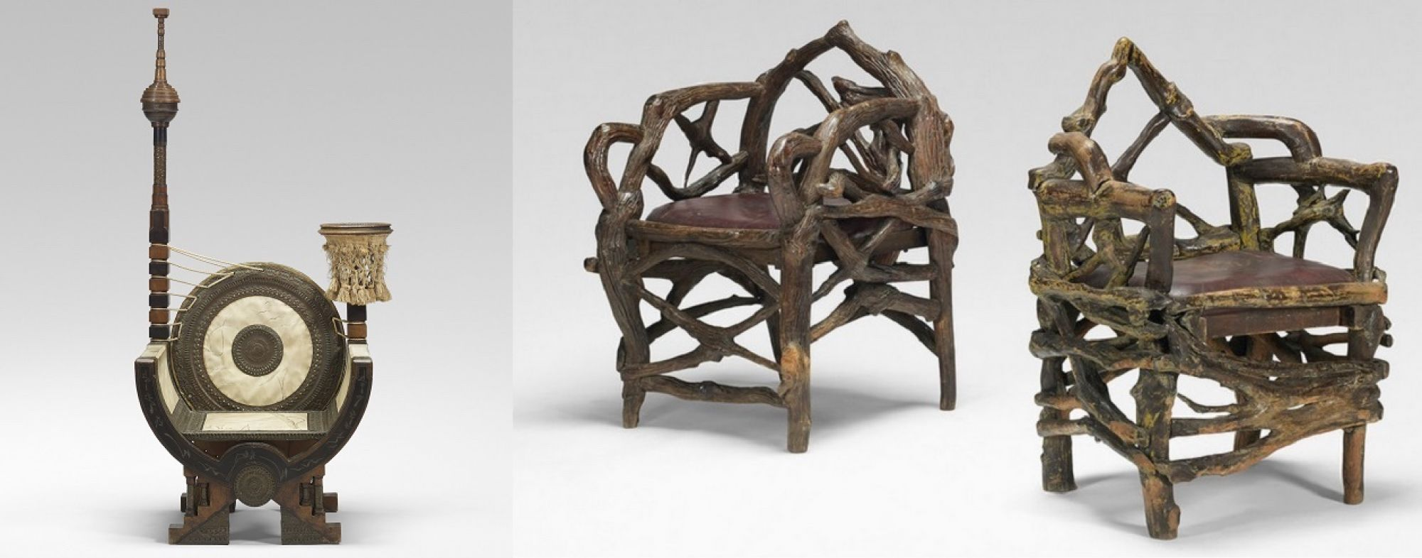 Rarities in the sale include Carlo Bugatti's Curule chair and a pair of chairs from Al Capone's Wisconsin retreat.