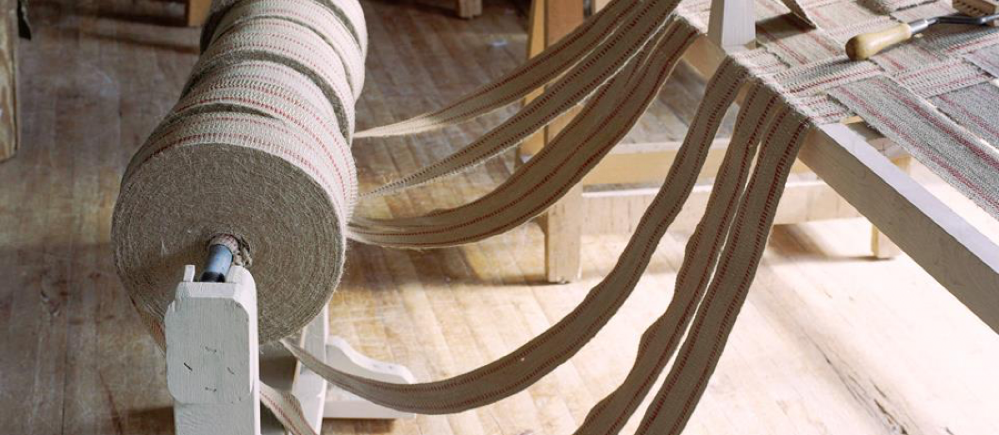 Kiln-dried hardwood frames topped with jute webbing create a strong, durable and supportive base for sofas. The process is illustrated here by Jonas Fine Upholsterers. (Image: Jonas Fine Upholsterers)