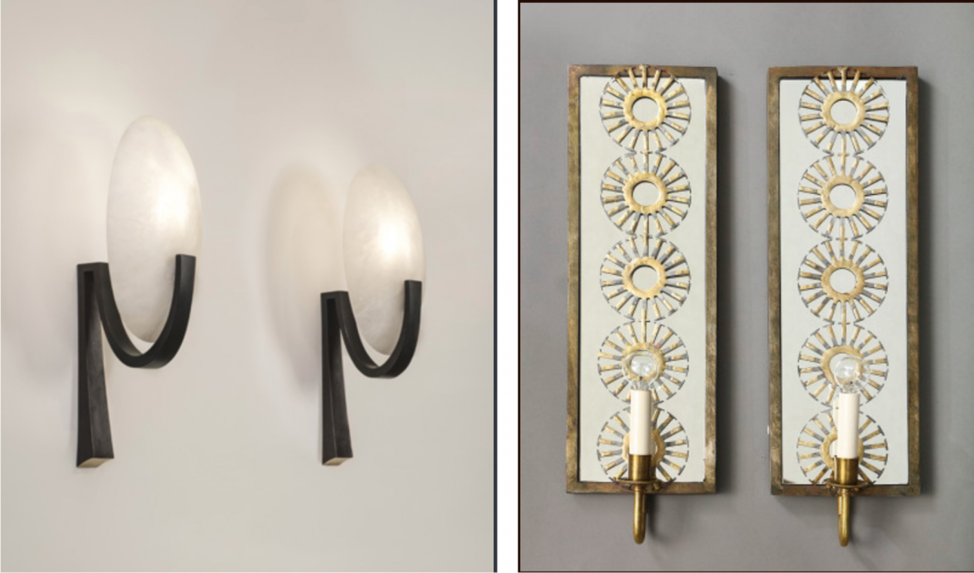 Sconces were a must in my lighting plan. Some of the options we considered were by Herve Van der Straeten and Marie Suri. (Images: Ralph Pucci and Liz O'Brien)