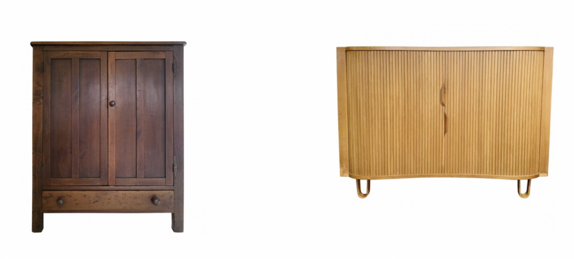 Find everything from an Americana Style 20th century pie safe to a Mid-Century Edward Wormley's mid-20th century Mister Cabinet on Sotheby's Home. (Images: Sotheby's Home)